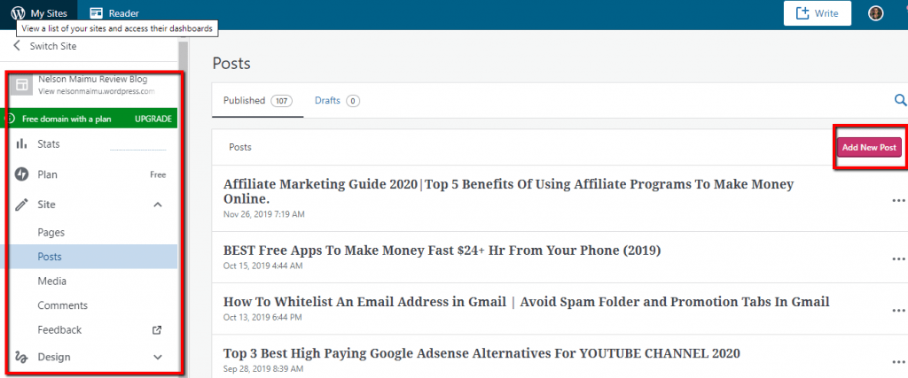 Wordpress_Blog_Backend